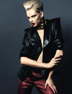 fatale: ginta lapina by santiago & mauricio for numéro november 2012 Fashion Poses, Fashion Shoot, Editorial Fashion, Magazine Editorial, Fashion Dresses, Punk Fashion, Leather Fashion, High Fashion, Lolita Fashion
