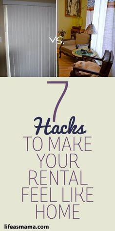 7 Hacks To Make Your Rental Feel Like Home I can't stand bare walls and most fixtures and surfaces that come in a standard rental are pretty ugly. Here are 7 hacks to make your rental feel like home. Small Apartments, Rental Apartments, Small Spaces, Diy Home Decor For Apartments Renting, Apartments Decorating, Studio Apartments, Rental Decorating, Decorating Tips, Rental Home Decor