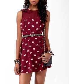 cute dress from forever 21. i want it really badly, but they have it in blue  and in red, i dont know wich color i want yet.