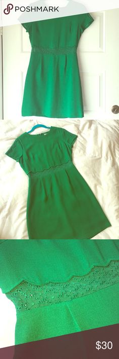 Esley Dress Small Jade Green Dress with Lace detail Esley Dresses Mini