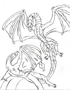 Adult Dragon Coloring Pages