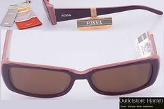 My new sunglasses: Fossil Clear Lake Purple Rose