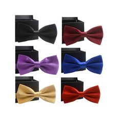 hot solid bow tie mens butterfly cravat bowtie male solid color marriage bow ties for men
