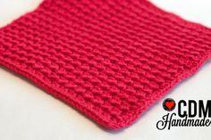 Washcloth Series: Crunch Stitch Crochet Washcloth – CDM Handmade
