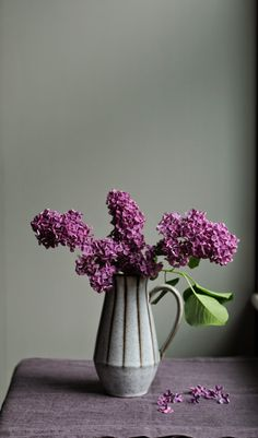 Lilac Still Life Study - by dawn mead