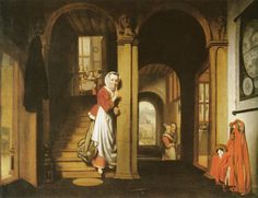 Николас Мас. The eavesdropper 1657 92 x 121 cm Oil on canvas Dordrechts Museum, Dordrecht