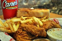 Raising Cane's Chicken Fingers everybody-loves-to-eat Cane's Chicken Fingers, Canes Chicken, Raising Canes, Fresh Squeezed Lemonade, Yummy Food, Tasty, Copycat Recipes, Love Food, Delish