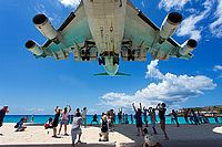 KLM - Royal Dutch Airlines Boeing 747-406 (PH-BFG) shot at Philipsburg / St. Maarten - Princess Juliana (SXM / TNCM) St. Maarten March 2013 By Jan Severijns.   The view, the sound and the Maho-spotters completes this image.