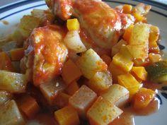 Guisado de pollo  Incluida en Recetas fáciles y saludables para mamás ocupadas  CocinandoConRoxy.com