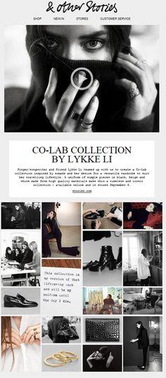 """SUB: """"Sneak Peek: Lykke Li & Other Stories"""" Una collezione in collaborazione con la musicista e icona di stile Lykke Li. Progetto interessante da tutti i punti di vista!"""