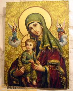 Mary Mother of God Jesus And Mary Pictures, Images Of Mary, Mary And Jesus, Blessed Mother Mary, Divine Mother, Blessed Virgin Mary, Madonna Art, Madonna And Child, Religious Icons