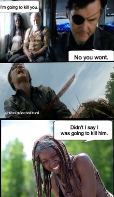 PP: She sure did.          Me: OMG, two TWD memes in a row that made me laugh. That's a friggin' record! :)