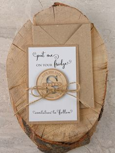 laurel wooden magnet save the date after the ring wedding things