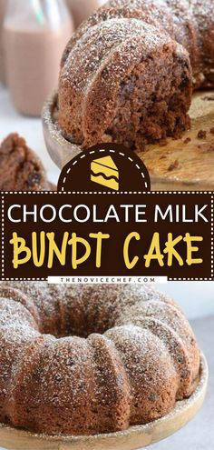 Look no further than the best bundt cake ever! Loaded with chocolate milk and chocolate chips, this moist homemade Valentine's Day dessert is shockingly good that one bite won't be enough. Plus, it is so easy to make that everyone will be begging for the recipe! Chocolate Banana Bread, Homemade Chocolate, Chocolate Desserts, Chocolate Chips, Chocolate Cake, Frosting Recipes, Cupcake Recipes, Dessert Recipes, Brunch Recipes