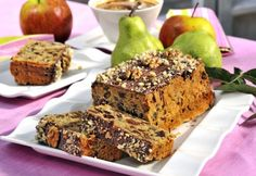Apple cake with dried fruits Apple Cake, Banana Bread, Sweets, Desserts, Food, Sweet Pastries, Tailgate Desserts, Deserts, Goodies