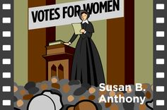 This animated social studies resource page with lesson plans and teaching tips, for Kindergarten to grade introduces Susan B. Anthony, a civil rights leader who fought for equal rights for women. 3rd Grade Social Studies, Social Studies Resources, Primary Classroom, Future Classroom, Susan B Anthony, Civil Rights Leaders, Wax Museum, Thematic Units, Rosa Parks