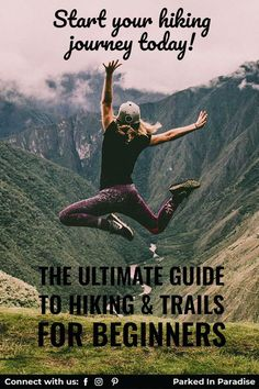 The ultimate guide to hiking and trails for beginners. From city hikes to mountain adventures, let this guide help prepare you. Great way to get outdoors and enjoy fresh air. Hike with a group or solo and it will refresh your body and mind. Great list of essentials for every hiking experience. Learn the terminology and gear that is needed for day trips or overnight backpacking hikes.