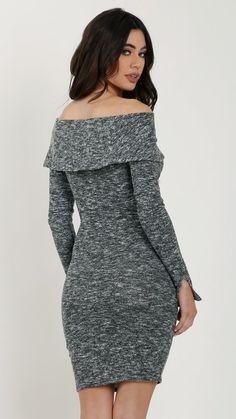 Soft Brushed Off Shoulder Dress