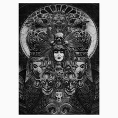 """Immortals: original illustration by PauleguGraphite on paper (Canson paper 180 GSM)Size: 20,4 x 28,4 cm (approx.)8"""" x 11,2"""" (approx.)ATTENTION: This Item ships from Lithuania"""