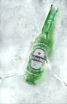 The talented Mr. Ivo created some fantastic shots using Budweiser & Heineken. No trickery here! Stella Artois, Ice Beer, Beer Humor, Beer Memes, Lager Beer, Bottle Packaging, Corona Beer, How To Make Beer, Gifts For Office