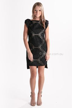 three of something puppet master dress - black/gold ON SALE - was $139 NOW $69AUD
