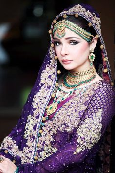 Indian Wedding Clothes | great purple bridal indian wedding dresses
