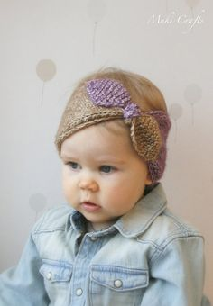KNITTING PATTERN turban bow headband headwrap Rita por MukiCrafts