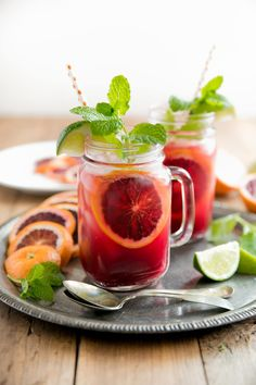 Blood Orange Kombucha Spritzers - The Forked Spoon