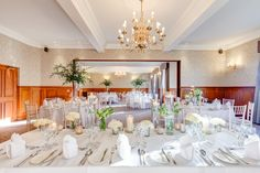 A beautiful wedding breakfast in our Brocklebank suite capable of seating up to 120 guests.
