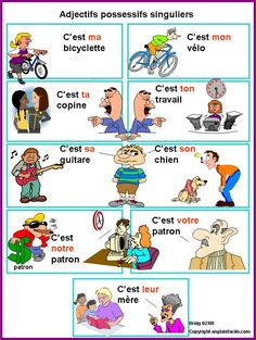 Adjectifs possessifs singulier