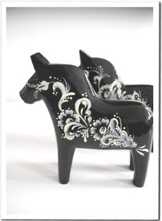 Dalecarlian Horse - black/white
