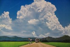 Landscape Photos, Landscape Paintings, Relaxing Art, Japanese Landscape, Anime Scenery Wallpaper, Sky And Clouds, Beautiful Sky, Amazing Nature, Aesthetic Pictures