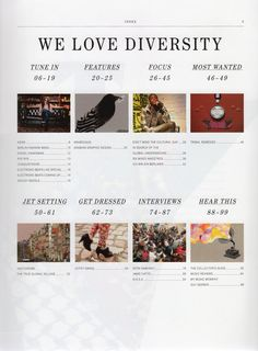 DESIGN CONTEXT YEAR 3: Lookbook contents page