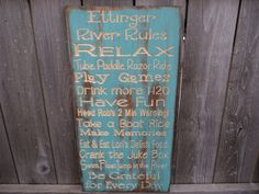 Primitive Aged Customized Cabin, Cottage, River, Lake, Lodge, or Beach Rules Sign Wall Sign Carved Engraved 14x30
