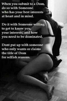 True submission and domination sex