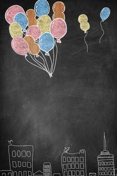 Posable Backdrop Balloon Flying Over City - 8187 baby tutorial Positiver Hintergrundballon, der Birthday Background Design, Kids Background, Background For Photography, Photography Backdrops, Baby Frame, Instagram Frame, Instagram Story, Foto Baby, Chalkboard Art