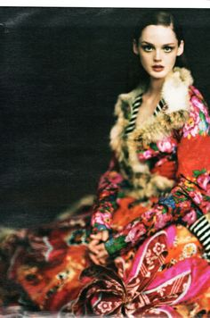 Russian inspired printed coat. #russianfolklore #florals #fall14