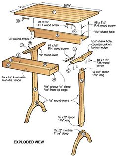 Shaker table plans, Shaker Tables Woodworking Plan Set The simplicity
