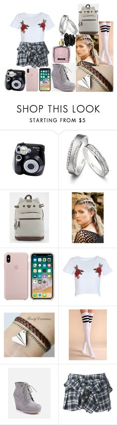"""""""Sin título #1443"""" by swordartonline97 ❤ liked on Polyvore featuring Polaroid, Pusheen, Stephanieverafter, WithChic, JustFab, Faith Connexion and Victoria's Secret"""