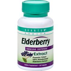 Quantum Elderberry Immune Defense Extract - 400 mg - 60 Capsules - Quantum Elderberry Immune Defense Extract Description:  Immune Defense Elderberry Extract Powerful Potent 100% Standardized Powerful in Immune Defense for Your Good Health.This herb is unfumigated and processed to retain all possible vital elements. Disclaimer These statements have not been evaluated by the FDA. These products are not intended to diagnose treat cure or prevent any disease.