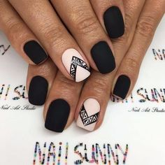 Acrylic manicures, dip powder nails, and gel manicures are just a few of the artificial nails designs that women love. Acrylic nails are a form of fake nails that are . Matte Black Nails, Pink Nails, My Nails, Blush Nails, Black Polish, Matte Pink, Stylish Nails, Trendy Nails, Nails 2018