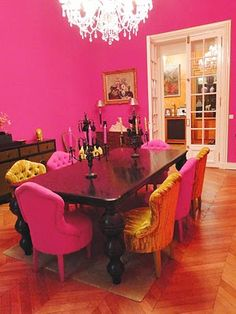 forget the black and white! This is the real me! Victor Hugo, Everything Pink, Pink Walls, Chi Chi, Dream Decor, Color Pallets, Dream Houses, House Rooms, Bright Pink