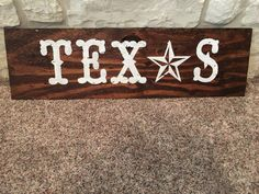 Texas W/ Star by FirefighterCrafts on Etsy