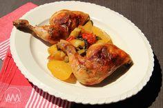 V kuchyni vždy otevřeno ...: Máslovo - rozmarýnové kuře na zelenině a bramborech