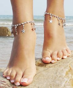 Barefoot Sandal Beachwear Wedding Foot Jewelry Chain Anklet Bracelet Silver_Style 2 - Anklet - Ideas of Anklet - Anklets Barefoot Sandal Beachwear Wedding Foot Jewelry Chain Anklet Bracelet Silver_Style 2 Anklet Jewelry, Anklet Bracelet, Anklets, Foot Bracelet, Fashion Necklace, Fashion Jewelry, Women's Fashion, Fashion Trends, Anklet Designs