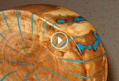 Make a log slice wood art decor