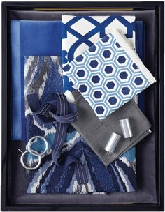 Calico Corners - Damana Collection. More deep but mellow blues. See the pin for the Damana living room.