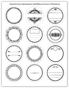 Round Jar Label printables. used for chrismas tags and literally save so much time for me!!! super cute too