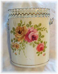 ///Vintage Tole Waste Basket by Bluebird Becca, via Flickr