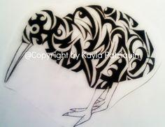 Tattoo design i did for my kiwi friend.